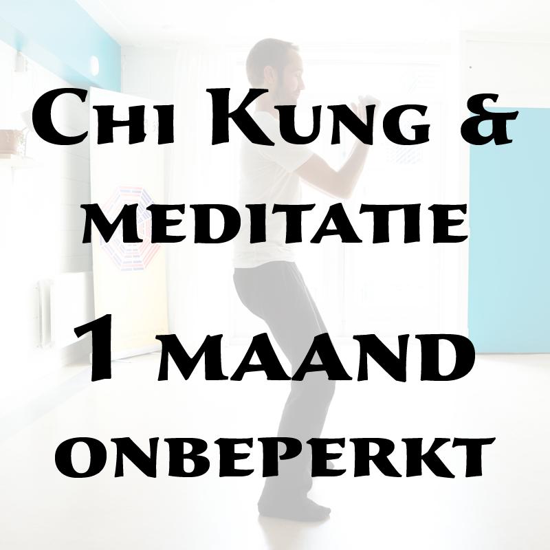 Chi Kung & meditatie   1 maand onbeperkt